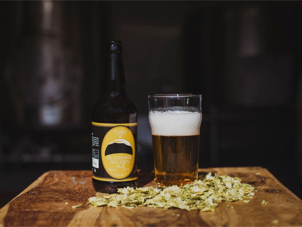 Tudor Brewery Blorenge Golden Ale In Glass